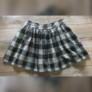 FREE PEOPLE Checkered Plaid Mini Skirt w/ POCKETS!
